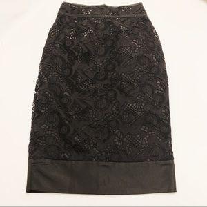 Zac Posen Lace Overlay Pencil Skirt 2 XS